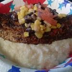 Blackened Catfish over Stone Ground Grits